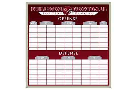 Blank Football Boards Search Results Calendar 2015 Board Roster Template