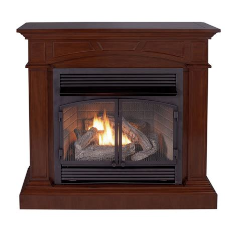 shop allen roth 32000 btu vent free fireplace and mantel