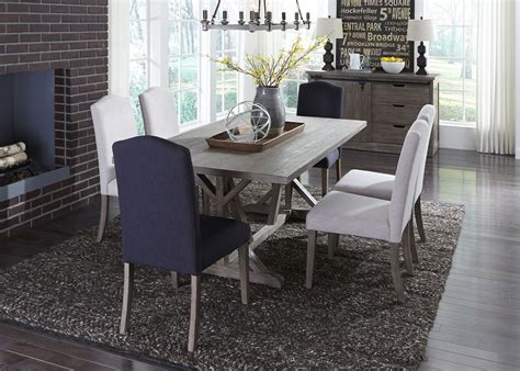 dining room sets carolina carolina lakes gray trestle dining room set 140 t4272 liberty