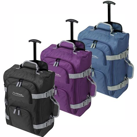 cabin bags uk ryanair cabin wheeled travel luggage trolley holdall