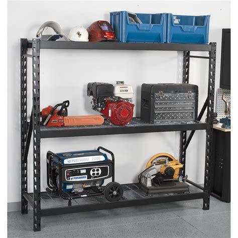 Edsal 3 Shelf Industrial Storage Rack edsal industrial storage rack 72in w x 24in d x 72in h