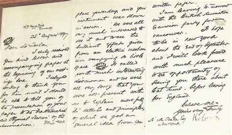 Tesla Letter Nikola Tesla Museum Pictures Of Infinity