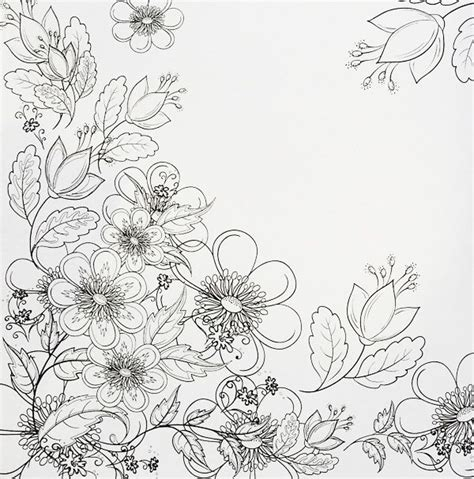 flowers coloring book a really pretty page of flowers from the fabulous flowers