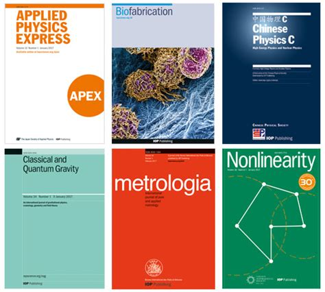 journal impact factor growth  iop publishing journals