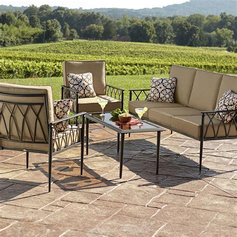 La Z Boy Patio Furniture La Z Boy Outdoor Quinn 4 Seating Set Outdoor Living Patio Furniture Casual Seating Sets