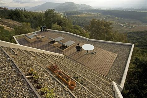 Deck Architecture casa v has a green roof into a living room inhabitat
