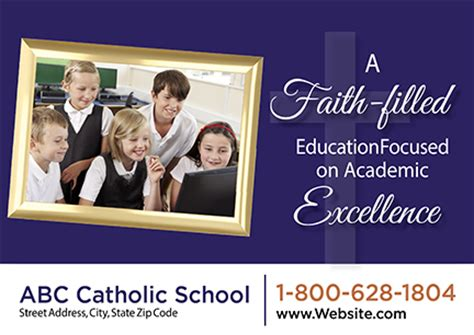 33 Brilliant Private School Education Direct Mail Postcard Advertising Exles Catholic School Marketing Plan Template