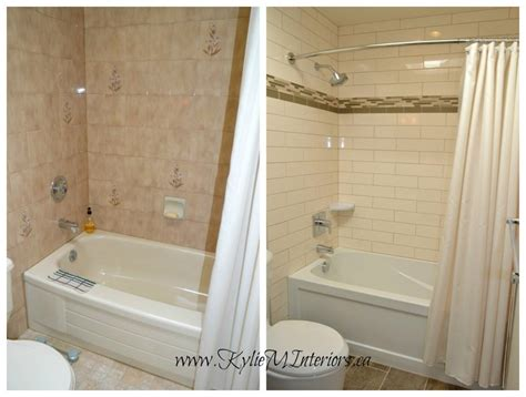cream tiled bathroom ideas bathroom before and after photo cream subway tile brown