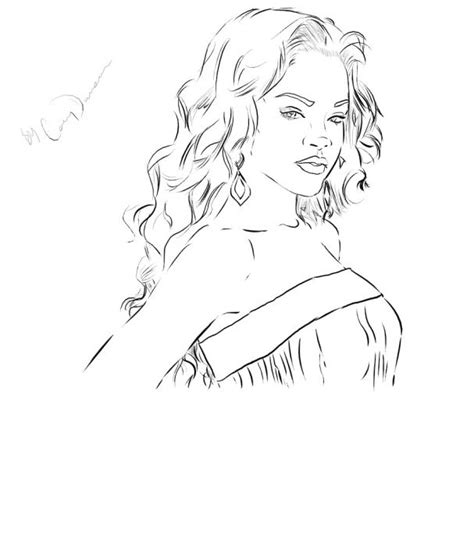 rihanna realistic coloring pages
