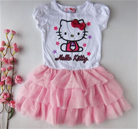 Dress Anak Murah Import Warna Pink Ready Stock 1 Jual Dress Tutu Anak Hello Warna Pink Usia 3 4 5 6