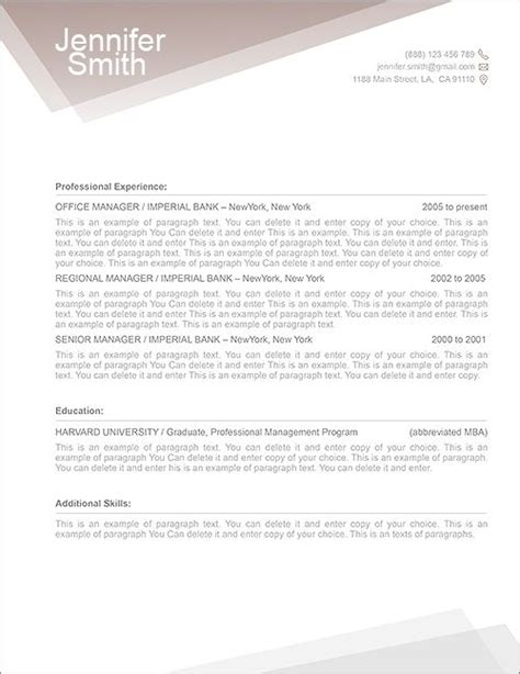 cover letter and resume templates for microsoft word free resume template 1100010 premium line of resume