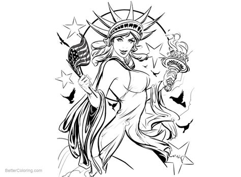 patriotic coloring pages patriotic coloring pages statue of liberty sketch drawing