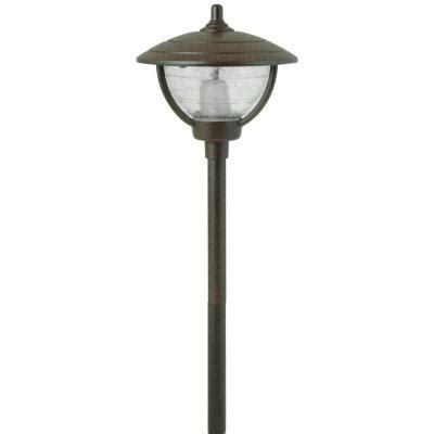 12 Volt Patio Lights Moonrays 12 Volt 10 Watt Auburn Style Bronze Outdoor Metal Path Light 95816 The Home Depot