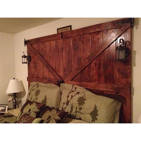 how to mount a door as a headboard homemade barn door headboard cute with the lanterns