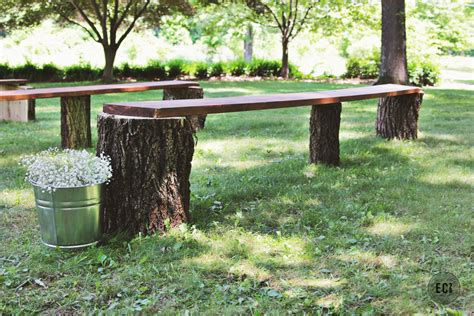 rustic log bench diy wedding seating rustic log benches ec2blog