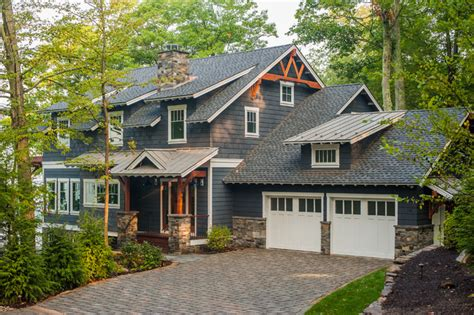 Lake George Retreat   Rustic   Exterior   New York   by Phinney Design Group