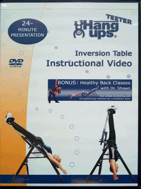 hang ups inversion table manual teeter hang ups inversion table site map
