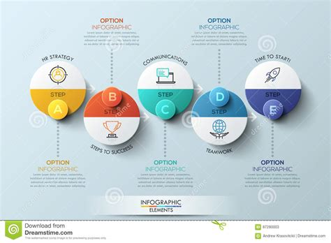 design concept elements infographic design template with circular elements 5