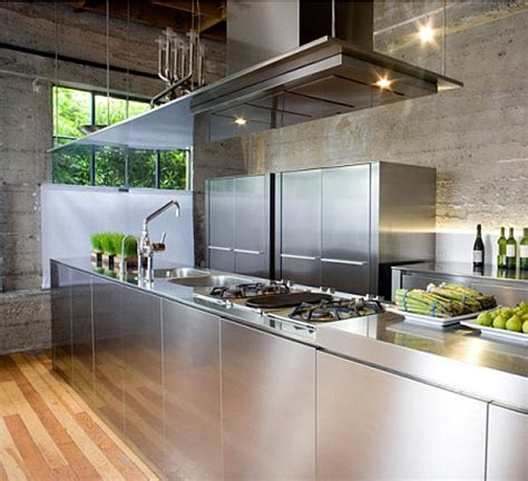 The Shiny Kitchen Metal Decor For Your Culinary Space Stainless Steel Kitchen Designs