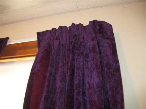 Purple Velvet Curtains Vintage Purple Crushed Velvet Drapes And 12 Similar Items