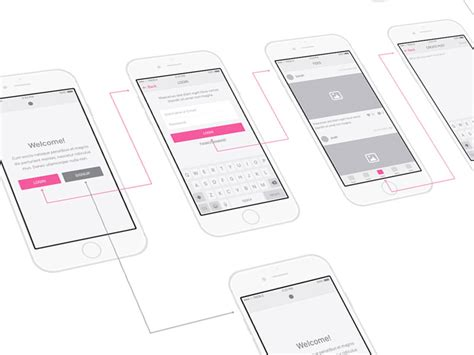 Snap Ui Kit Ios Wireframes Sketch Freebie Download Free Resource For Sketch Sketch App Sources Sketch App Templates