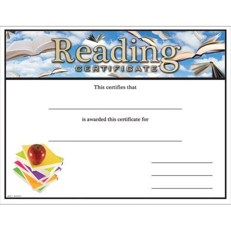 reading certificate jones school supply