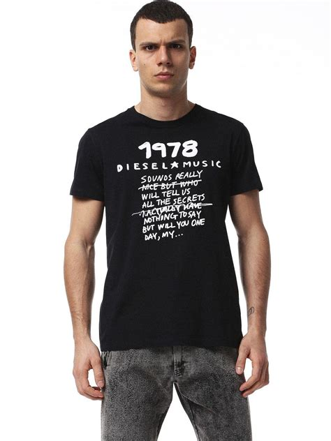 Tshirt Diesel 1978 lyst diesel 1978 crew neck t shirt in black for
