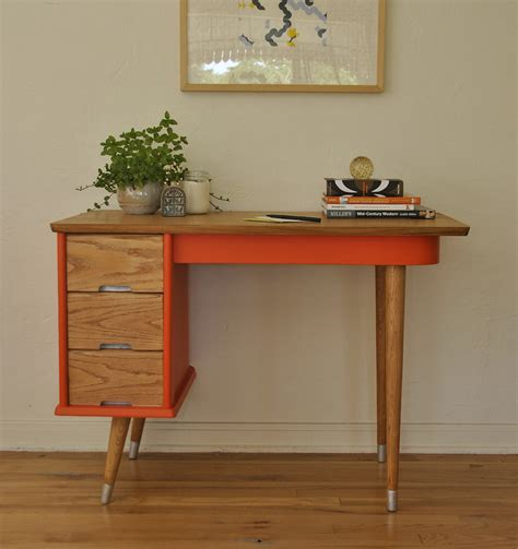 small mid century desk vintage orange mid century desk trevi vintage design