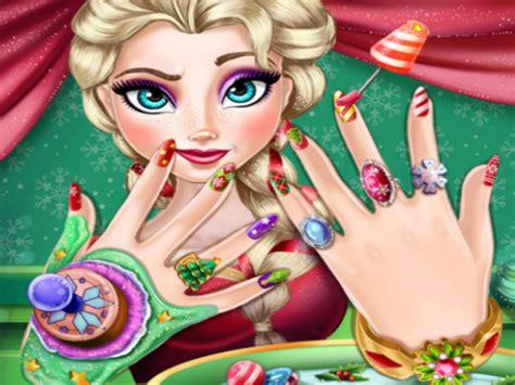 nagels lakken spelletjes elsa kerst nagels spelletje spelletjes spelen op