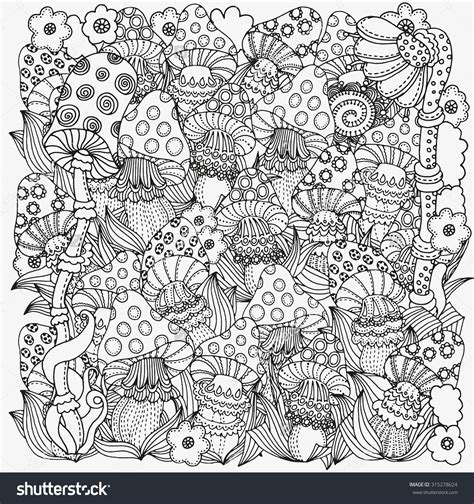 Trippy Coloring Pages Mushrooms by Trippy Coloring Pages Free Free Coloring Books