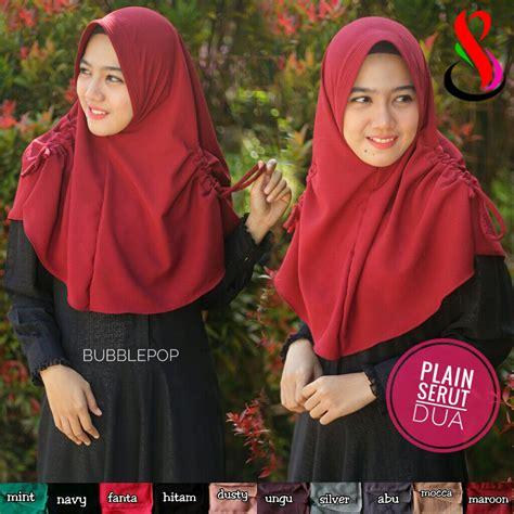 Jilbab Kerudung Serut 3 kerudung plain serut dua sentral grosir jilbab kerudung i supplier jilbab i retail grosir