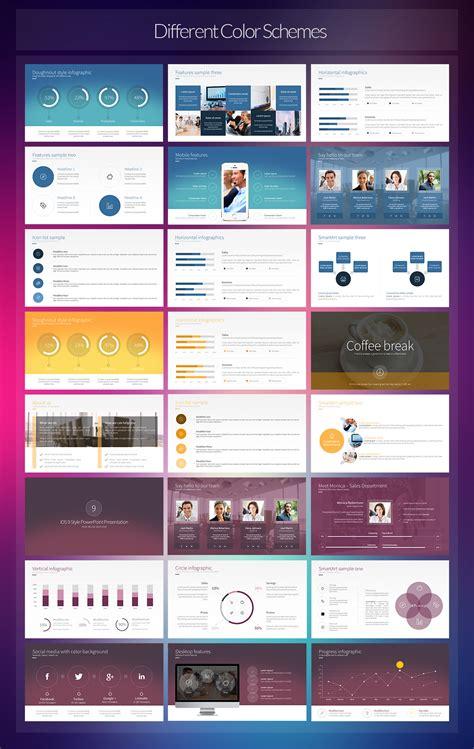 ios 9 style powerpoint template on behance