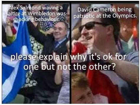 so what s wrong with alex salmond waving a giant saltire
