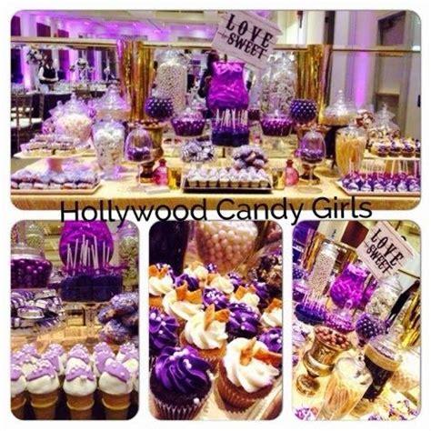 purple candy buffet table purple lavender fuchsia