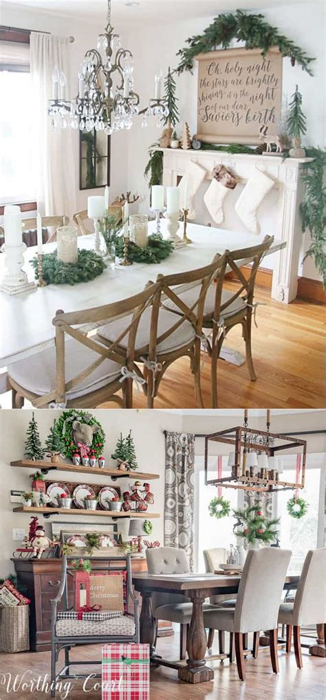 dining table for 8 rustic decorated christmas trees 100 favorite christmas decorating ideas for every room in