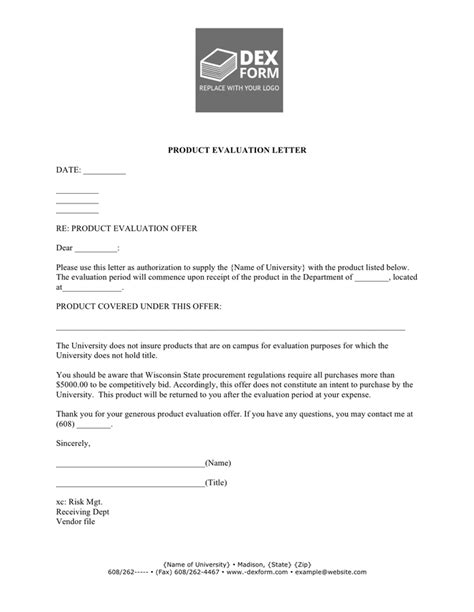 Sle Of Evaluation Letter For An Employee sle letter for product evaluation 28 images sales