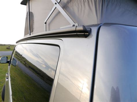 rv awning rail canopy awnings rails vanscape