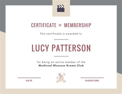 canva membership membership certificate template lifetime achievement