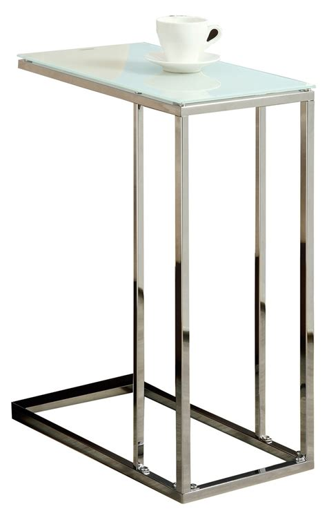 chrome accent tables 3000 chrome metal accent table from monarch i 3000