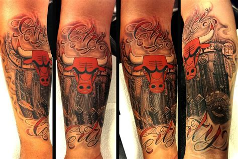 chicago bulls tattoos omar chicago ink piercing and microdermals