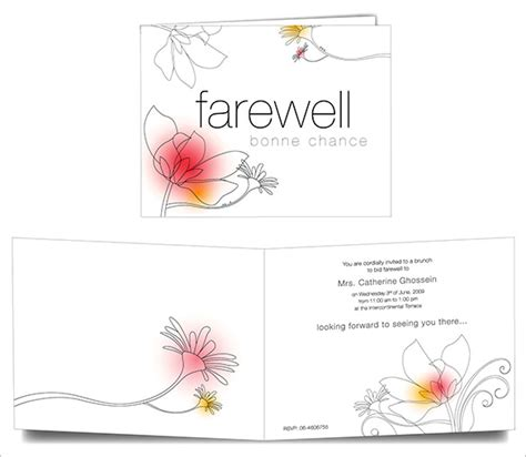 invitation card templates for farewell farewell card template 23 free printable word pdf psd