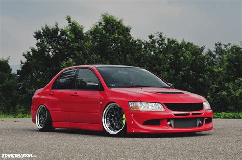 stanced mitsubishi lancer lowballers japan stancenation form gt function