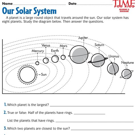 printable activity sheets solar system space printables time for kids third grade