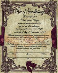 handfasting certificate free second choice romantic
