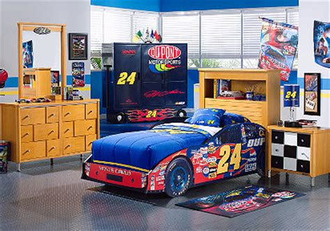 Nascar Bedroom Furniture with Nascar Jeff Gordon 3 Pc Bookcase Car Bedroom Betterimprovement