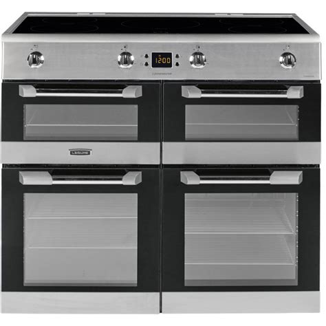 electric induction range cookers 100cm buy leisure cs100d510x 100cm electric induction range cooker stainless steel marks electrical