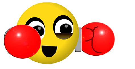 Balon Emoji Ko boxing smiley