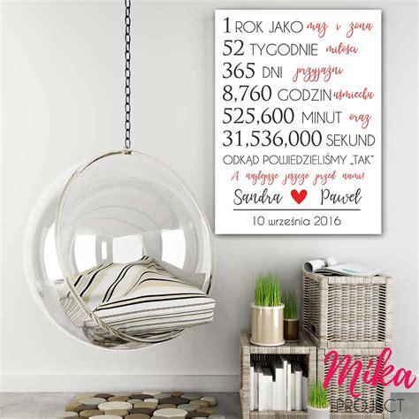 Plakat Mika by Prezent Na Rocznicę ślubu Spersonalizowany Plakat Mika