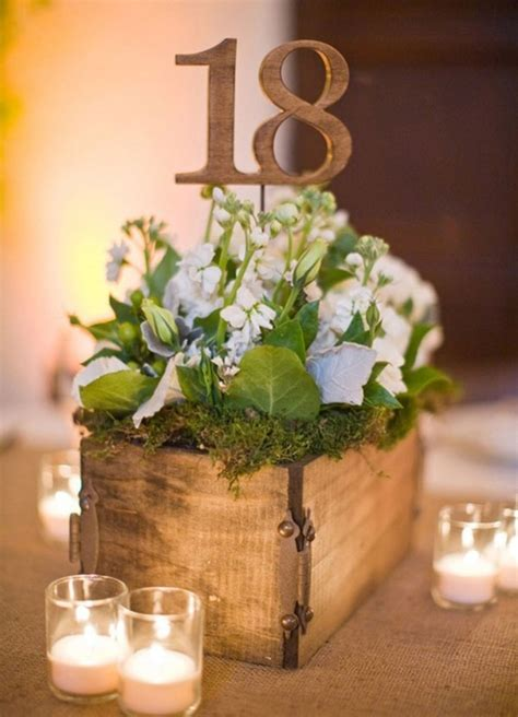 Rustic Wedding Centerpieces With Wood Quotes Rustic Wood Centerpiece