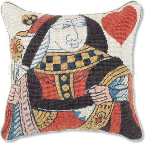 Designer Needlepoint Pillows by Card Throw Pillows Of Hearts Petit Point